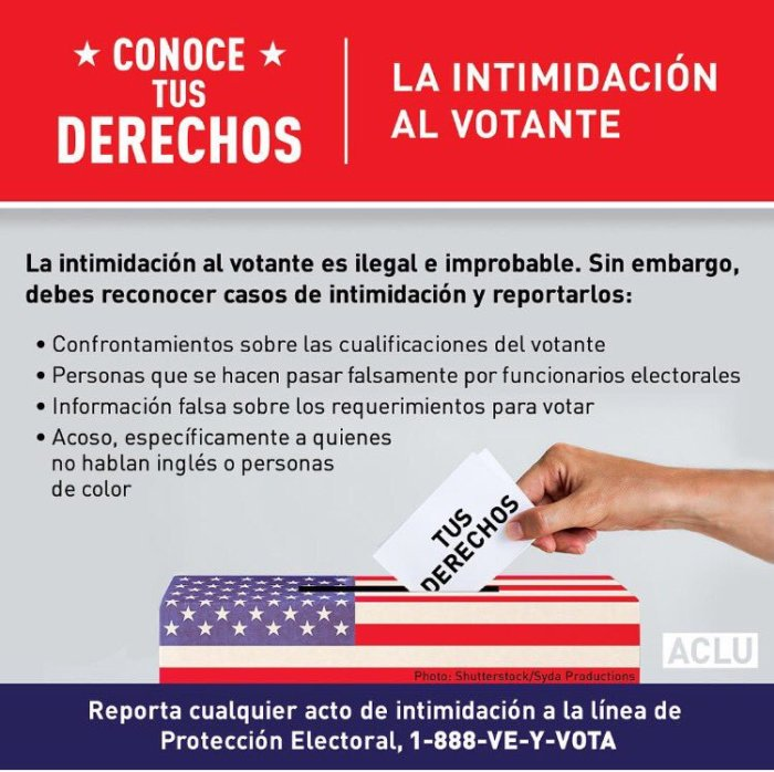 Spanish Voter Intimidation