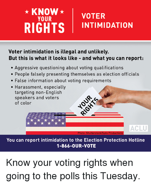 voter intimidation