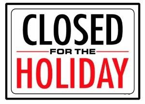 ClosedForHoliday